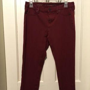 Stitch Fix Liverpool Jeans Co Dark Red Stretch sz8